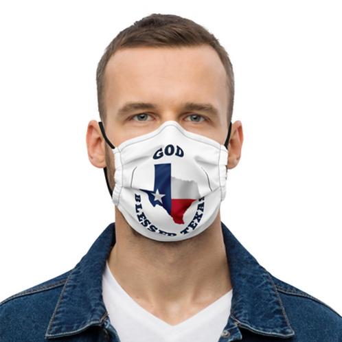 God Blessed Texas- Premium face mask