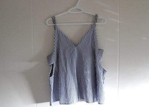Mahina Blue Striped Top