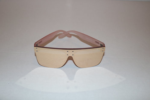Quay Rose Gold Mirrored Sunglasses