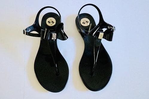 BCBG Black Bow Sandals