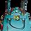 Thumbnail: SheShe Turquoise Leather Purse