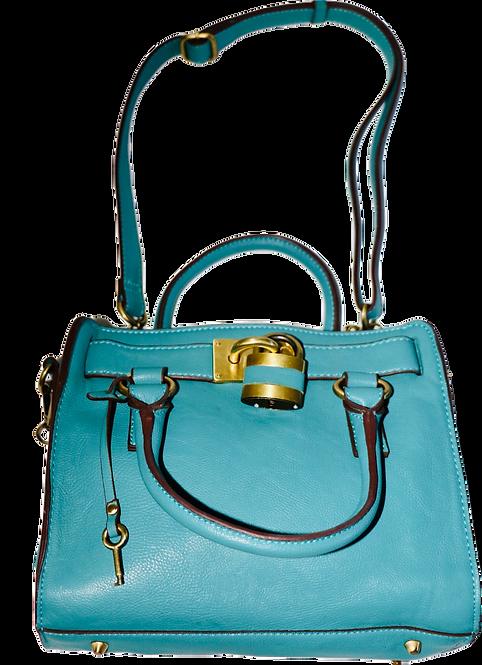 SheShe Turquoise Leather Purse