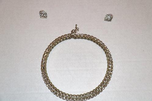 Diamond Choker & Earring Set
