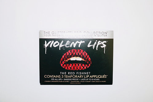 Violent Lips- Temporary Lip Tattoos- The Red Fishnet