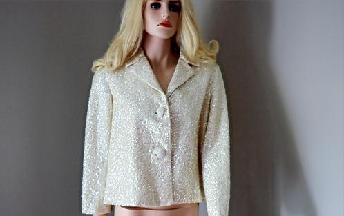 Vintage Cream Sequin Jacket