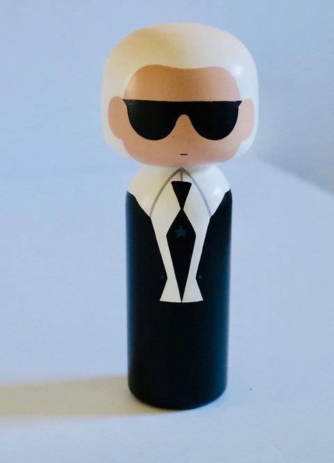 Kokeshi Doll-Karl Lagerfeld