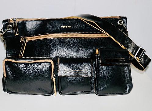 Matt & Nat Messenger Bag- Black