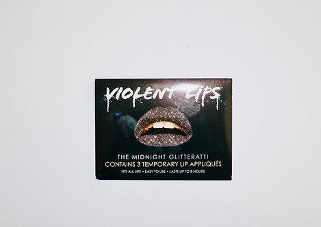 Violent Lips- Temporary Lip Tattoos- The Midnight Glitteratti