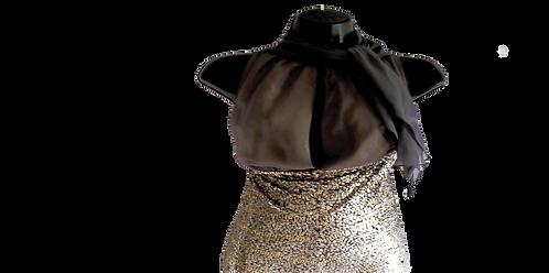 Naeem Khan sequined halter dress