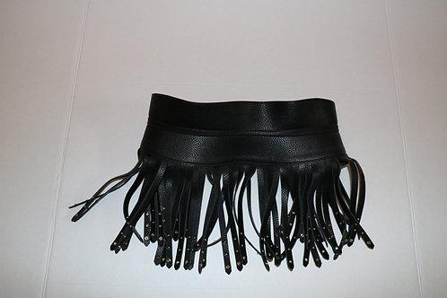 BCBG Black Fringe leather Belt