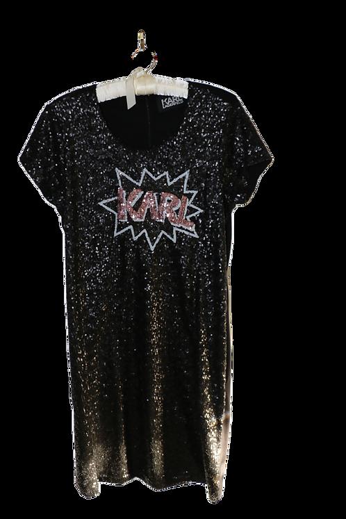 "Karl Lagerfeld Sequin ""Karl"" Dress"