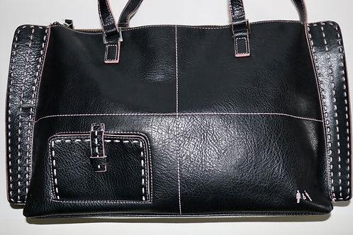Matt & Nat Messenger Bag- Pink Stitching