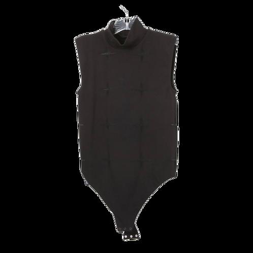 Neiman Marcus Black Mockneck Bodysuit