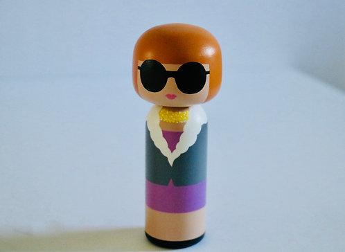 Kokeshi Doll- Anna Wintour