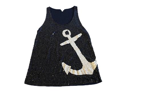 Navy Sequin Tank