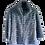Thumbnail: Luisa Spagnoli Blue Rabbit Fur Coat