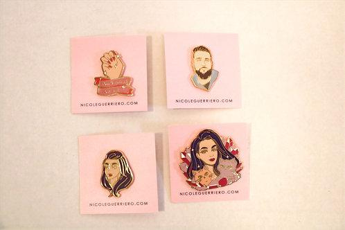 4 pack Nicole Guerrero Pins