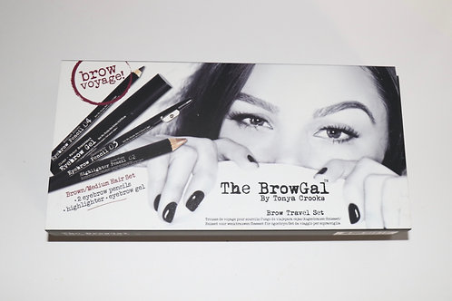 The BrowGal Brow Kit-(Brown-Med.)