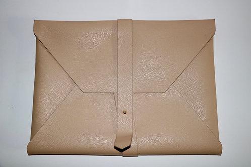 Tan Envelope Clutch