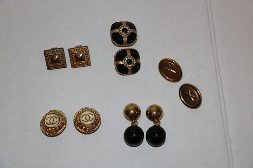 5 pairs of Vintage Chanel Costume Earrings