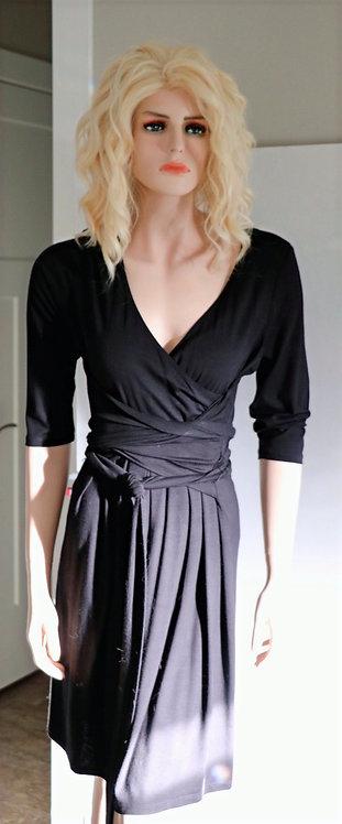 Jacob black wrap dress