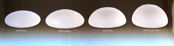Perfil das próteses de silicone