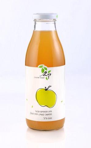מיץ תפוחים טבעי 0.5 ליטר