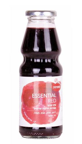 מיץ טבעי מפירות וירקות אדומים