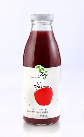 מיץ רימונים טבעי 0.5 ליטר