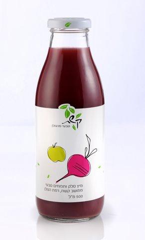 מיץ סלק ותפוחים 0.5 ליטר