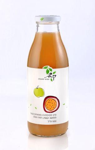 מיץ פסיפלורה ותפוחים 0.5 ליטר