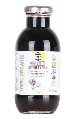 """מיץ סלק ותפוח עץ טבעי אורגני 300מ""""ל"""