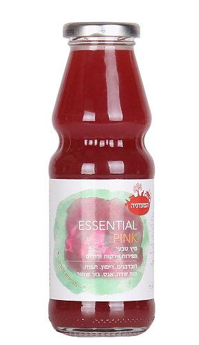 מיץ מפירות וירקות ורודים