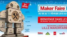 Rendez-vous au MakerFair de Lille du 9 au 11 Février 2018 au Tripostal