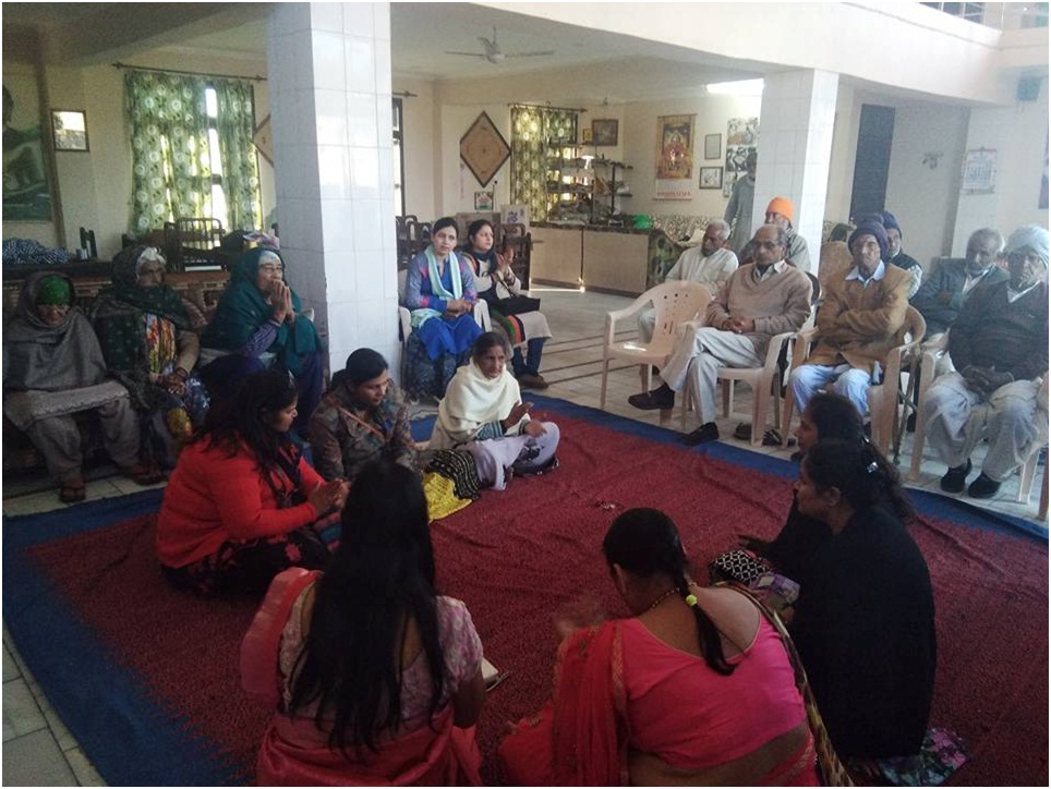 Spreading Happiness(Old Age) Hisar2
