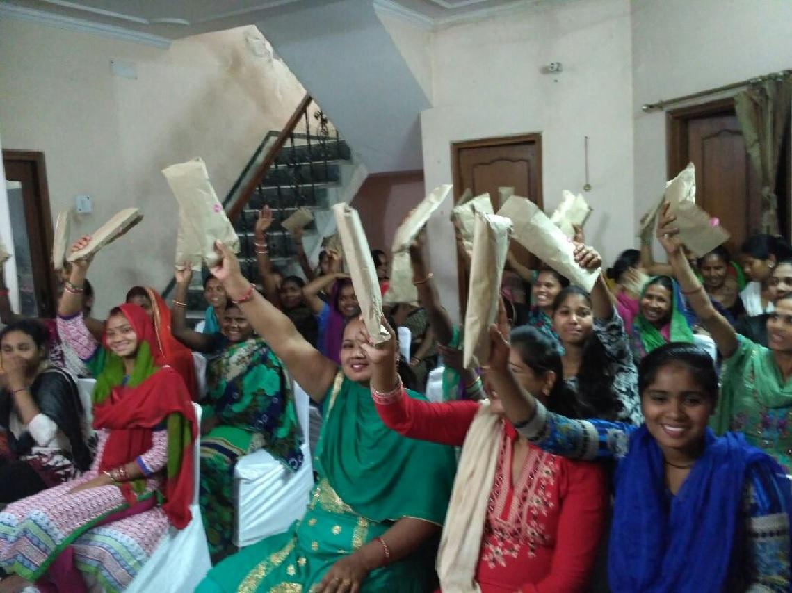 menstrual hygiene workshop nd pad distribution- Ghaziabad (28th Mar) 1