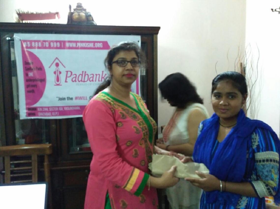menstrual hygiene workshop nd pad distribution- Ghaziabad (28th Mar) 5