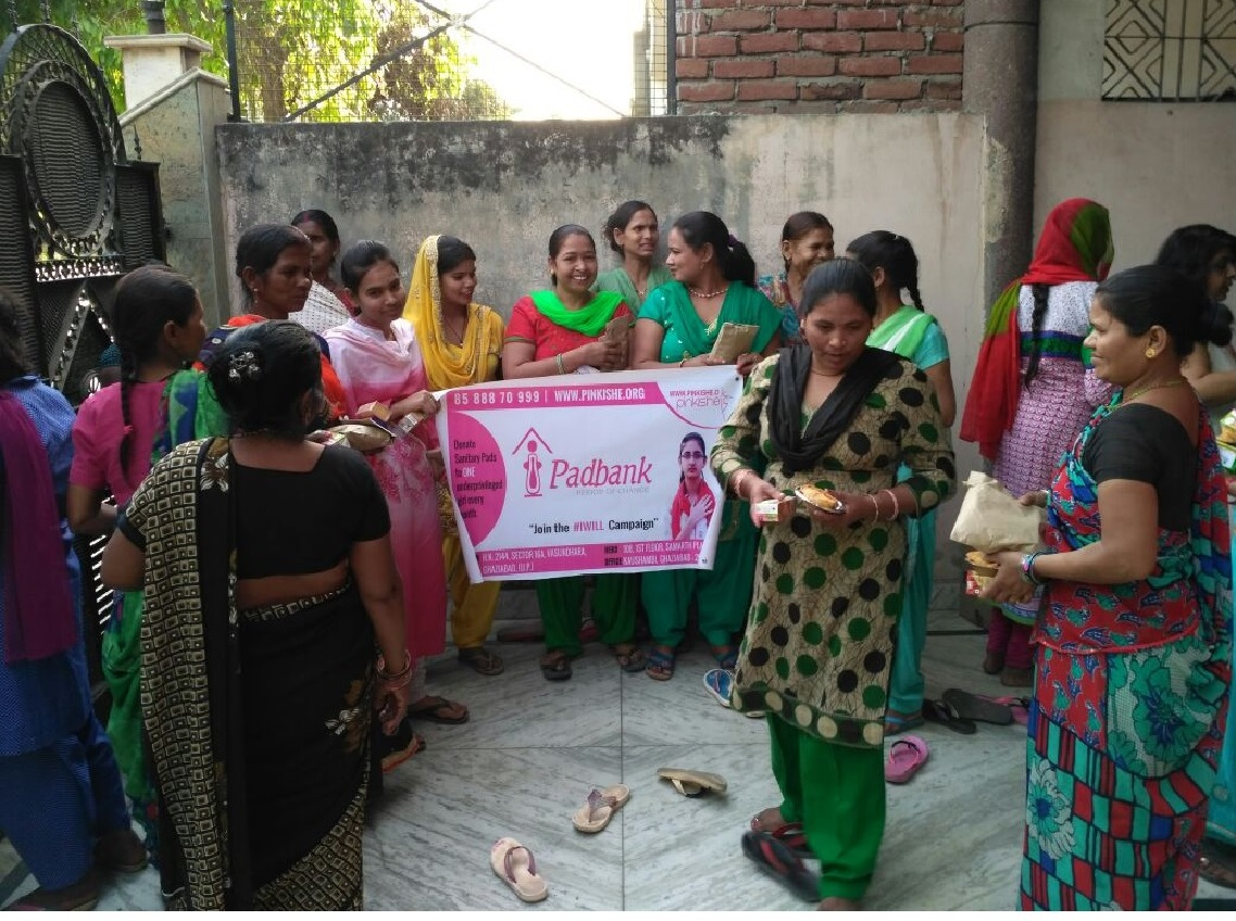 menstrual hygiene workshop nd pad distribution- Ghaziabad (28th Mar)