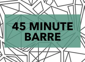 45 MINUTE BARRE + VIDEO