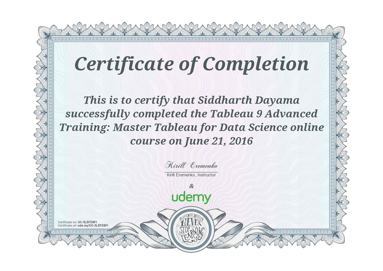 Tableau 9 Advanced Training