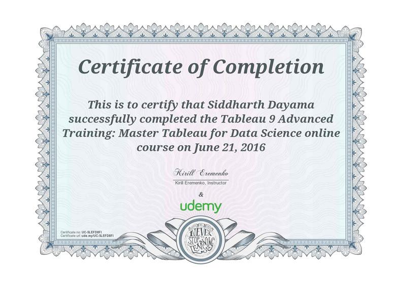 Tableau 9 Advanced Training