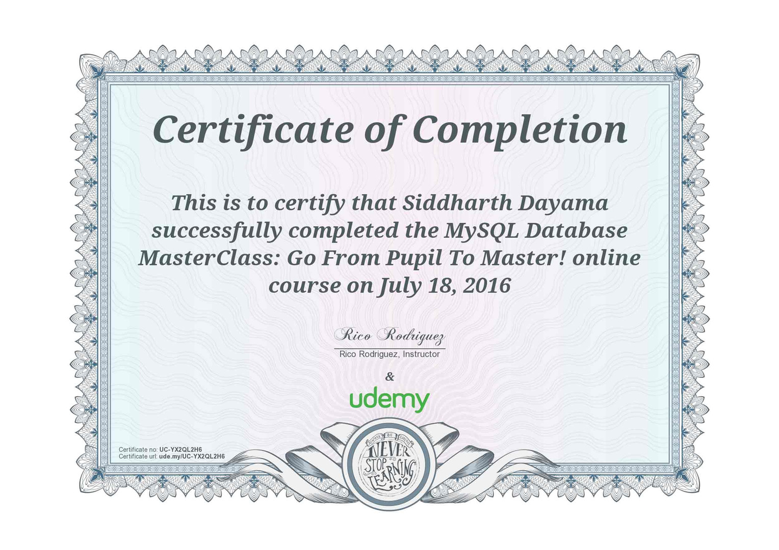 MySQL Database MasterClass