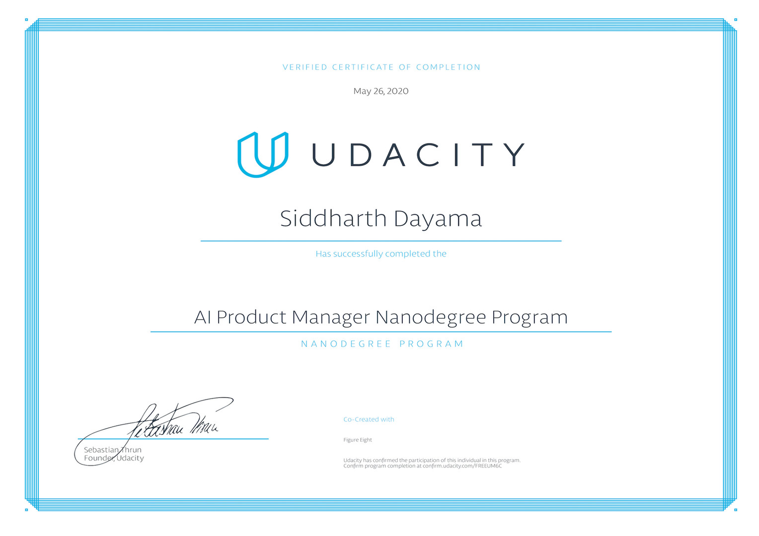 Udacity AI Product Manager Nanodegree