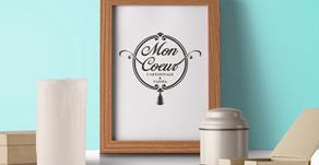【ロゴ デザイン】カルトナージュとタッセル教室『Mon Coeur -モンクール-』さま