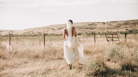 Novia en la pradera