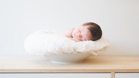 fotografia de bebe con 15 dias de vida