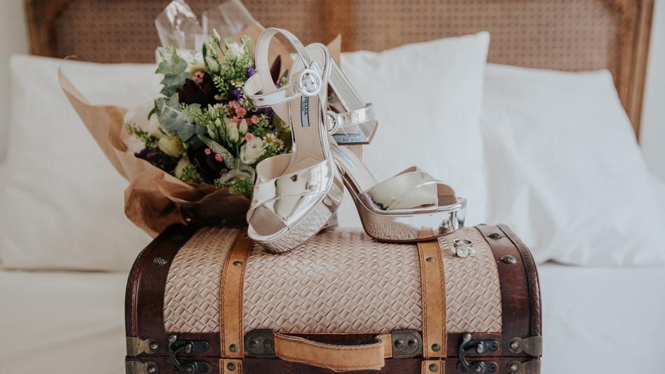 Zapatos y ramos