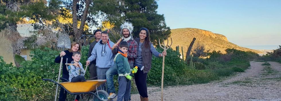 Det, Reyes, Adri, Pablo, Rick, Santi y Belén
