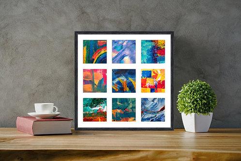 5x5 Inch Square Photo Multi Aperture Picture Frame