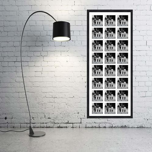 Large 4x4 Inch Square Photo Multi Aperture Picture Frame